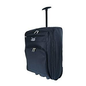 Ladies And Mens Flight Cabin Bags 55 X 40 X 20 Cm Black Plain Stylish Onboard Hand Luggage Cabin Holdall Wheeled Travel Bag Suitcase Suitable For Ryanair Easyjet Bmi Ba Virgin 55 X 40 X 20 Cm Ideal Bags For Overnight Weekend Bagstravel Luggage Hospital Ma