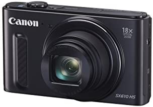 Canon SX610 HS PowerShot Point and Shoot Digital Camera - Black (20.2 MP, 18x Optical Zoom) 3-Inch LCD