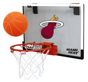 NBA Miami Heat Game On Indoor Basketball Hoop & Ball Set