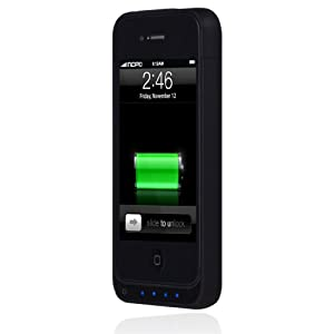 Incipio iPhone 4/4S offGRID Backup Battery Case - 1450mAh - 1 Pack - Carrying Case - Retail Packaging - Stealth Matte Black
