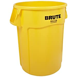 garbage can 24 inch diameter x 31 1 2 inch height yellow