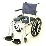 "Mariner Rehab Shower Commode Wheelchair Folding 18"""