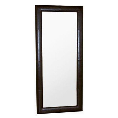 Black friday egeus leather frame floor mirror in dark for Black framed floor mirror