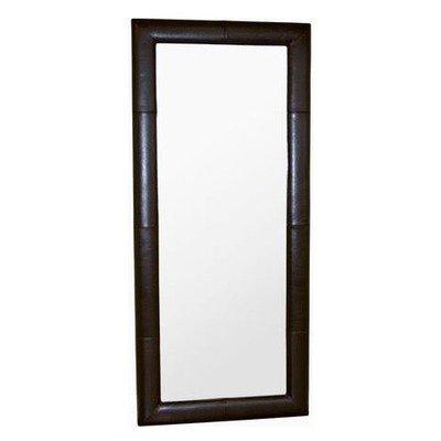 Black friday egeus leather frame floor mirror in dark for Cheap floor mirrors