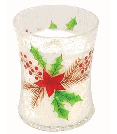 WoodWick Crackle Glass Christmas Cake Candle