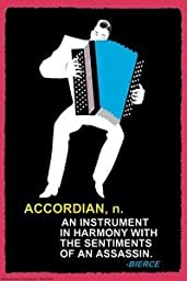 Paper poster printed on 12'' x 18'' stock. Accordian n.