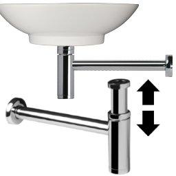 design siphon sifon als geruchsverschluss ablauf rohr f r ihr waschtisch waschbecken passend zu. Black Bedroom Furniture Sets. Home Design Ideas