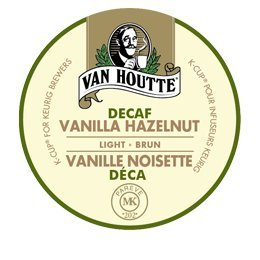 Van Houtte DECAF FLAVORED Coffee * VANILLA HAZELNUT DECAF * Light Roast - includes 48 K-Cups for Keurig Brewers