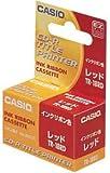 CASIO  カシオ DISCタイトルプリンター 印刷用インクリボンカセット TR-18RD レッド