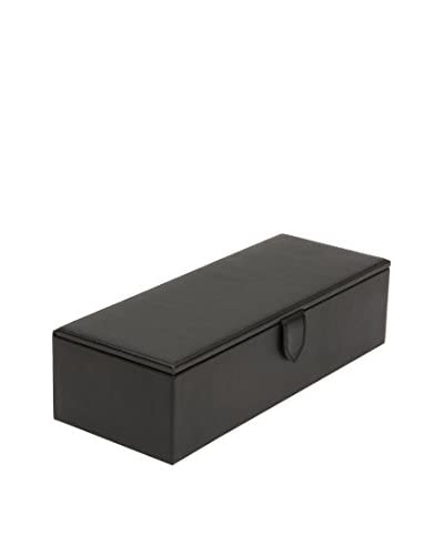 WOLF Blake 5-Watch Box, Black Pebble