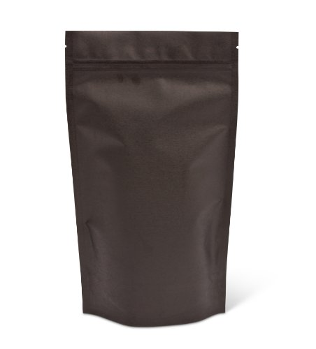 Pacific Bag 430-420B Stand-Up Pouch, 16 oz, Black Rice Paper with Zipper (Case of 500) (Rice Paper Pouches compare prices)