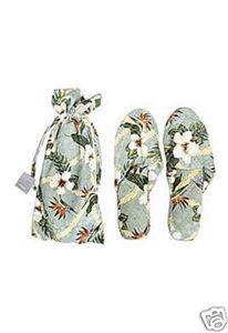 Cheap Hawaii Island Bath & Body Floral Jacquard Silk Slippers L/XL Aqua (B003YQ3OXM)
