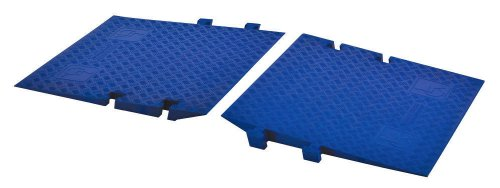 Cross-Guard CPRP-1X125-BLU Polyurethane ADA Compliant Ramp for Linebacker GP 1 Channel Heavy Duty Cable Protectors, Blue , 36