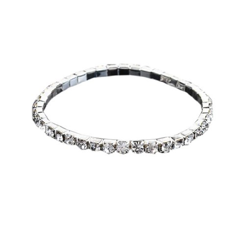 Diamante Rhinestone Stretch Bracelet Bridal Wedding Party Fashion Jewellery
