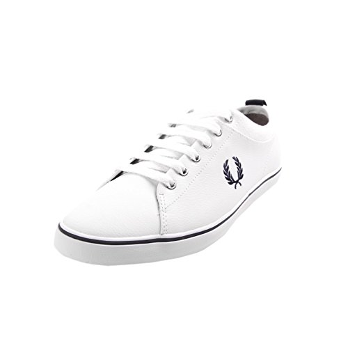 Fred-Perry-Hallam-Leather-White-Blue