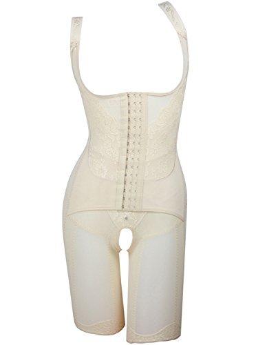 Burvogue Damen Shapewear Body mit Träger Spandex