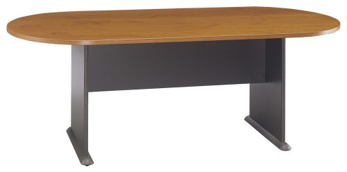 Bush Furniture Racetrack Conference Table, Natural Cherry/Graphite Gray