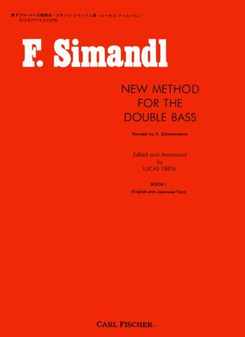 O492 - New Method for the Double Bass (English and Japanese Text) - Book 1 - Simandl (English and Japanese Edition)
