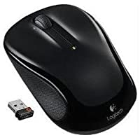 Logitech M325 Wireless RF Optical Gaming Mouse with Built-in USB Hub (Black)