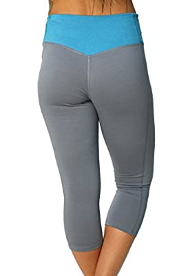 Nike Women's Legend 2.0 Dri-Fit Cotton Tight Capris-Grey/Blue