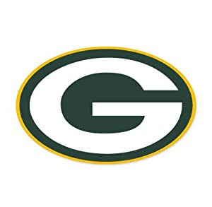 "Green Bay Packers NFL Large Sticker (12"" x 8"") Cornhole Wall Car by SportZone"