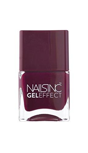 Nails Inc Nail Polish Effetto gelatina Modello: Kensington High Color Via: 14ml chiodo smalto per unghie come il salone del chiodo - senza luce UV applicabile: mora content / fucsia.