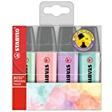 Stabilo Boss Highlighters Pastel Colours - Pack 4