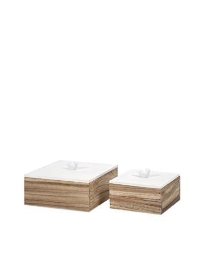 Set of 2 Mochrie Lidded Boxes