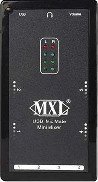 Broadcast Mxl Mic Mate Mini Mixer Dynamic Microphone