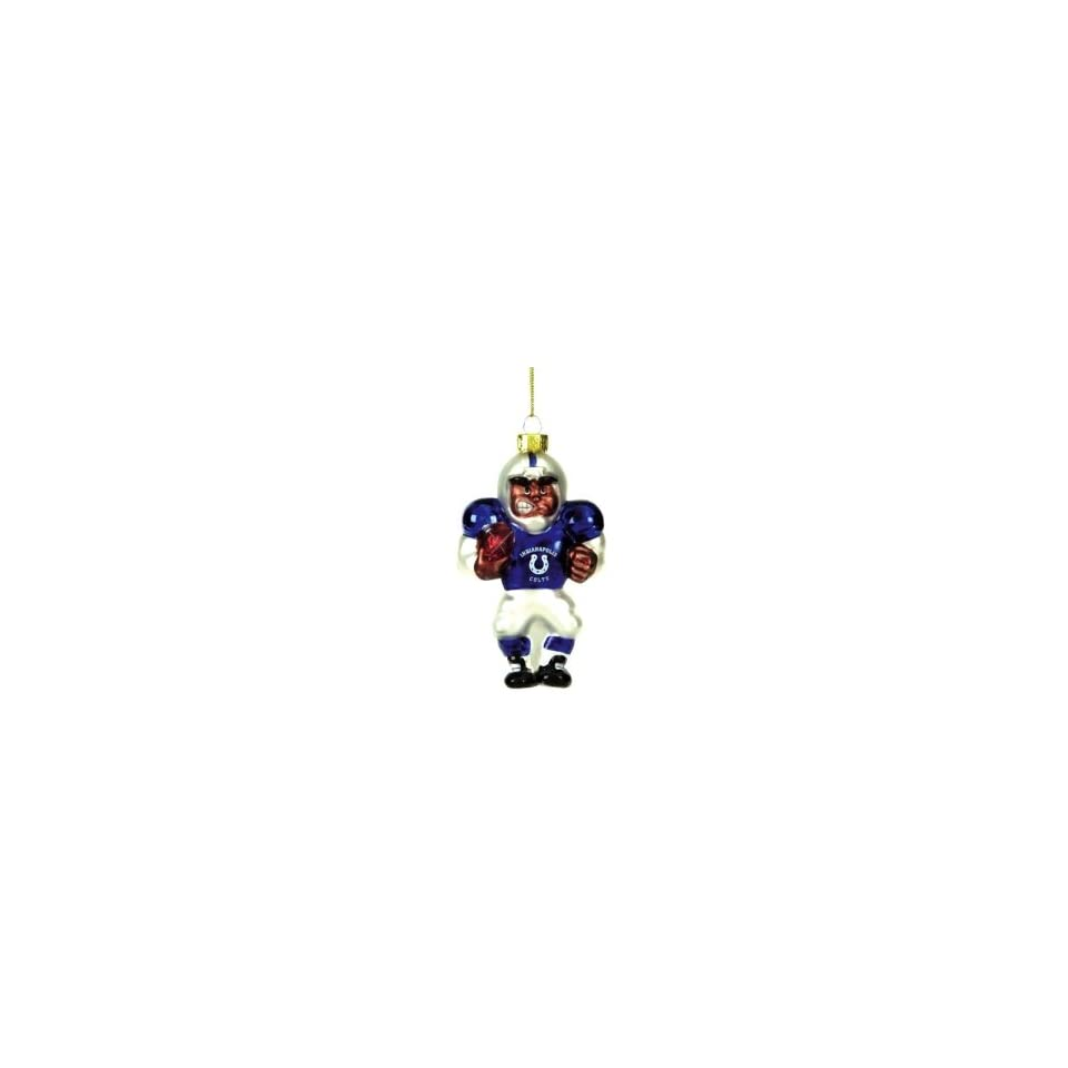 Indianapolis Colts NFL Glass Player Ornament (5 African American)