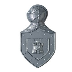 Plastic Knight's Crest Party Accessory (1 count)