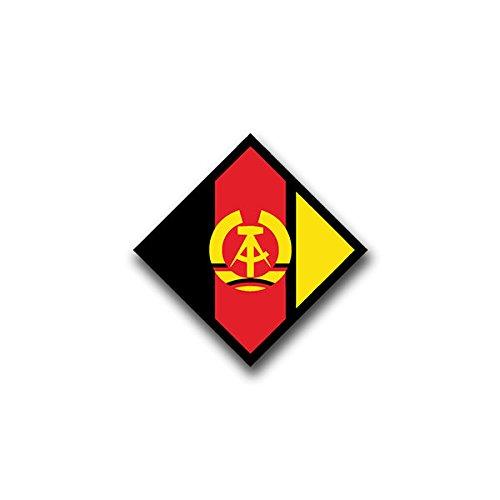 Aufkleber / Sticker - nva wappen Sticker Aufkleber nationale Volksarmee Mauer DDR Wappen Abzeichen Emblem Bundeswehr passend für Jeep Opel VW Golf GTI 3er BMW Mercedes Benz 7x7cm #A816