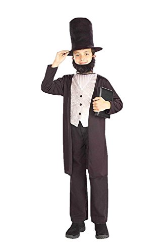 Child's Abraham Lincoln Costume Size Small (4-6)