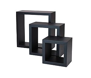 nexxt Cubbi 3-Piece Shelf Set, Black