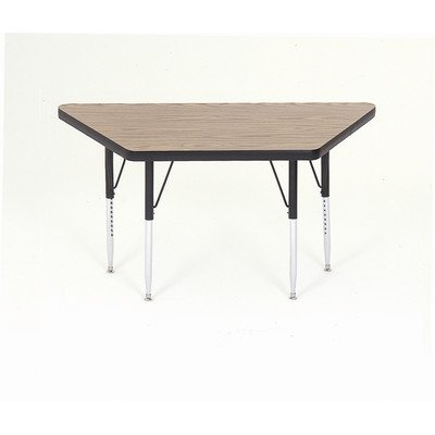 Small trapezoid activity table with standard legs purchase for Short table legs