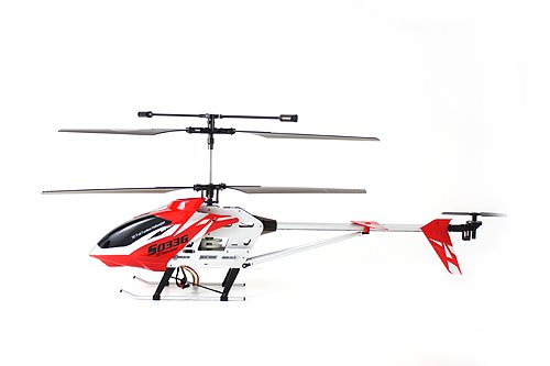 SYMA S033G Gyro Metal Frame Coaxial 3 Channel R C Helicopter - Red