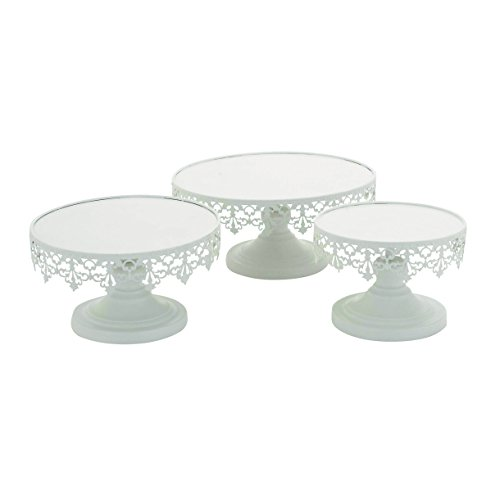 """Deco 79 Metal Cup Cake Stand (Set of 3), 8""""/10""""/13"""""""
