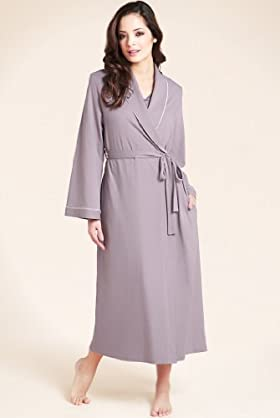 Per Una Pure Cotton Plain Wrap Dressing Gown