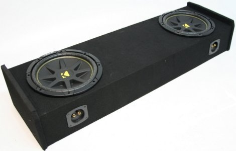 "Asc Package Ford F-150 97-99 Extended Cab Truck Dual 10"" Kicker C10 Subwoofer Sub Box Enclosure 600 Watts Peak"