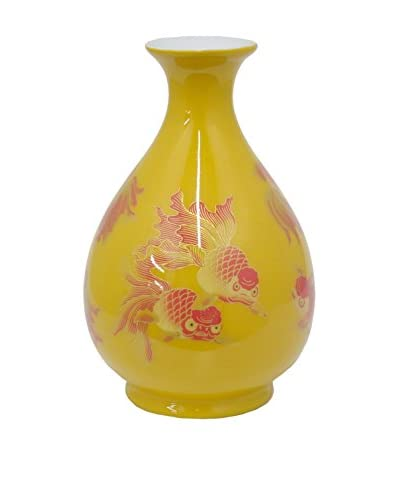 Three Hands 15.5 Goldfish Vase