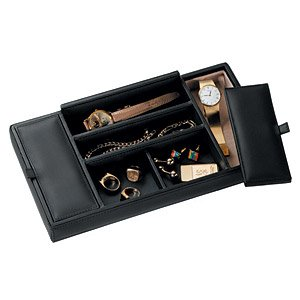 Royce Leather Mens Valet Tray - Tan