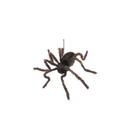 [50-Inch Black Hairy Spider - Spooky Hanging Halloween Decoration] (Movie Character Costume Ideas Homemade)