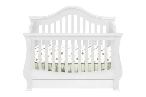 Million Dollar Baby Ashbury 4-In-1 Convertible Crib With Toddler Rail, White front-990942