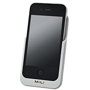 MiLi Power Pack External Battery 3000mAh Capacity for iPhone 4 / 4S (White)
