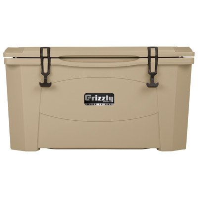 Grizzly Coolers G60 Desert Tan - 60 Quart Roto-Molded Cooler with Tested Ice Retention of Over 6 Days - Extreme Durability and - Made in the USA (Grizzly 60 Cooler compare prices)