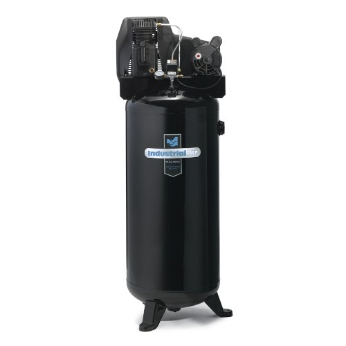 Industrial Air ILA3606056 60-Gallon Hi-Flo Single Stage Cast Iron Twin Cylinder Air Compressor