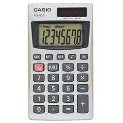 Casio HS8VA 8 Digit - Basic Handheld Calculator