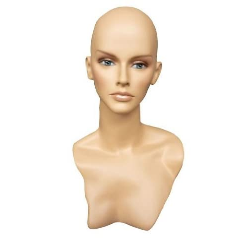 New Female Mannequin Head Display Bust For Jewelry, Wigs and Hats HLEM6