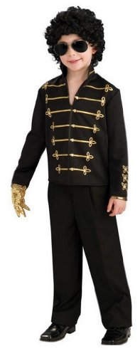 Child's Michael Jackson Costume Black Military.