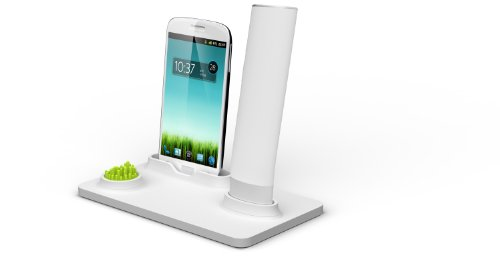 Anti Radiation Cell Phone Portable Wireless Bluetooth Handset And Charging Dock Stand Cordless Retro Handset Works For The Samsung Galaxy S3 S4 Devices Irraydynight